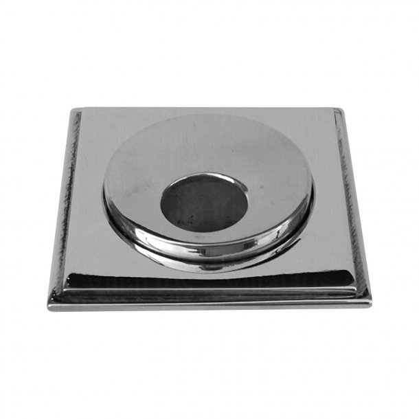 Oval square plate Key - Chrome 55x55 mm (P8029)