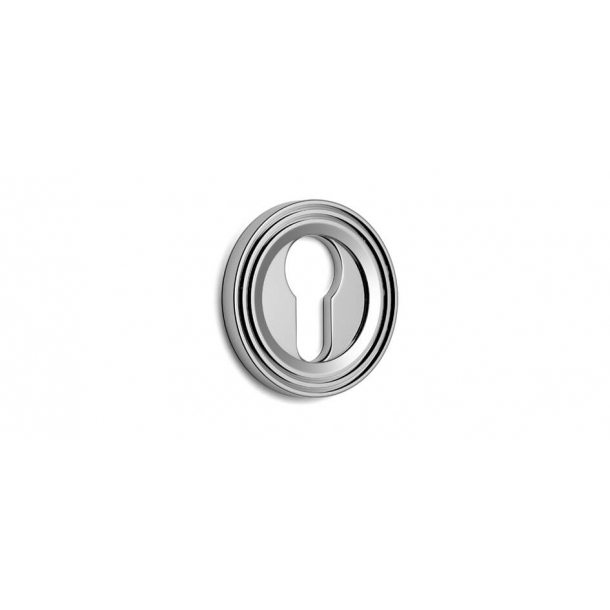 Euro escutcheon - Chrome 51 mm