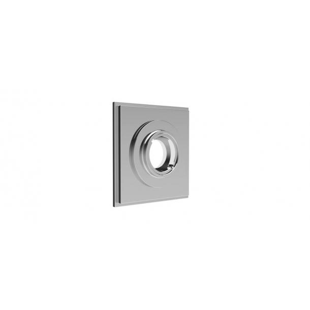 Square rosette - Chrome 55x55 mm (P8026)