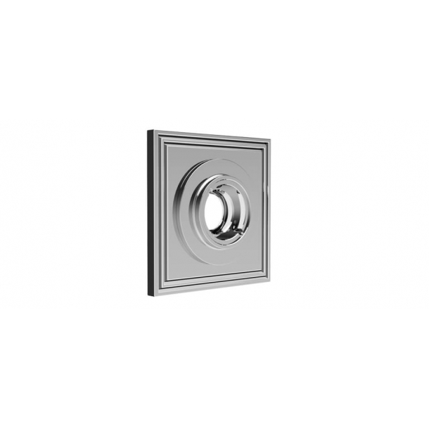 Square rosette - Chrome 55x55 mm (P8036)