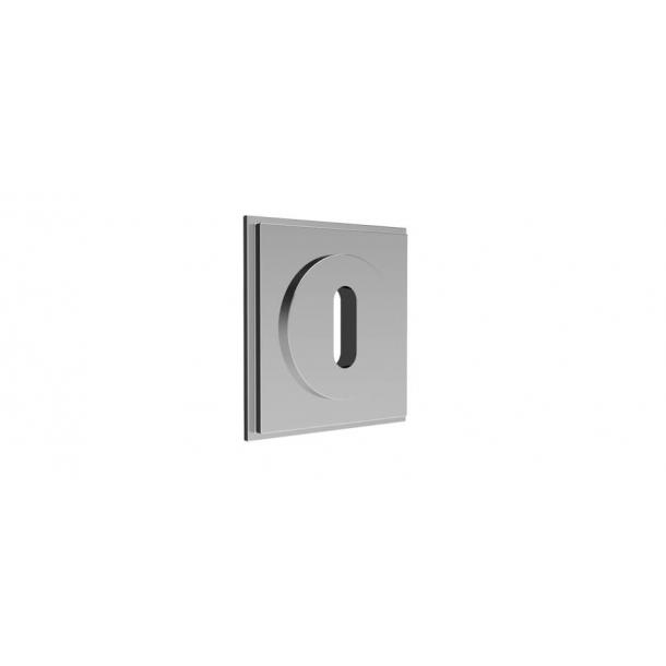 Quadratisches Schlüsselschild - Chrom 55x55 mm (P8027)