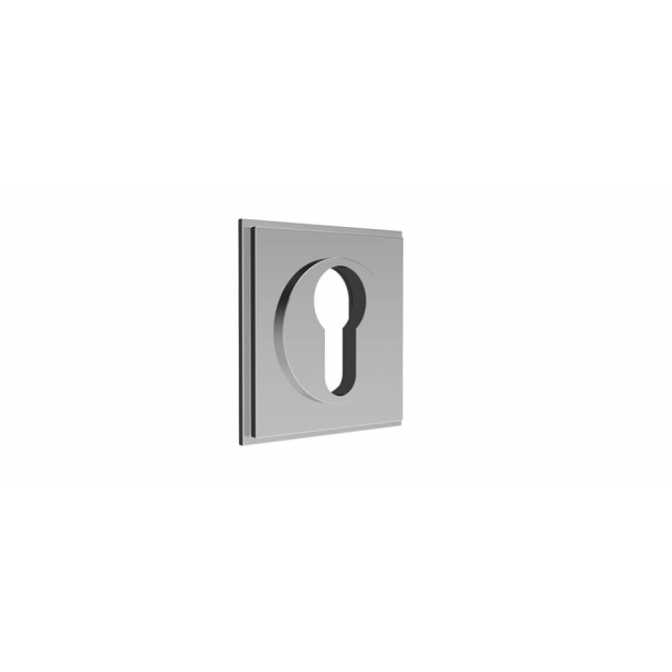 Euro square escutcheon - Chrome 55x55 mm (P8028)