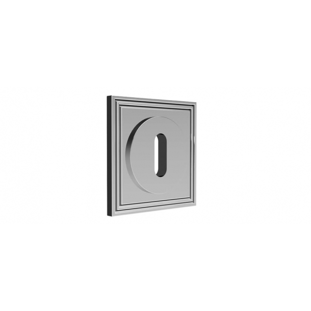 Square escutcheon - Chrome 55x55 mm (P8037)