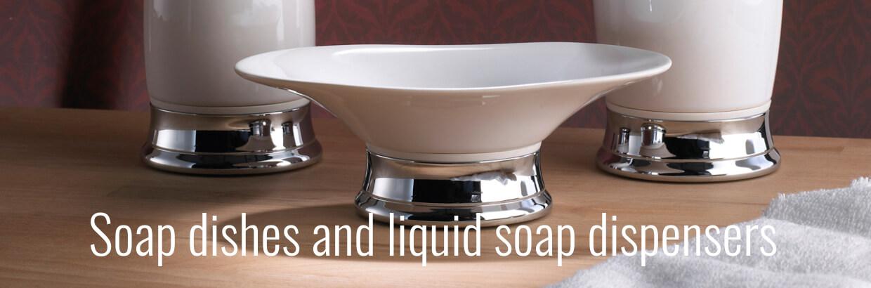 Badrumsutrustning - Tvålbehållare - Tvålbehållare - Toalettrullehållare - Toalettrensare