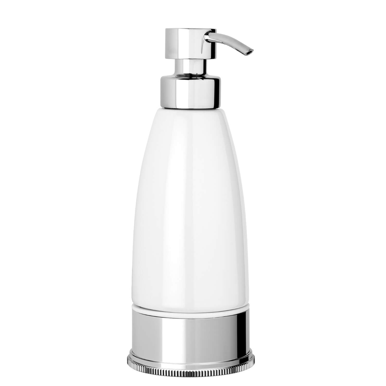 Soap Dispenser White Chrome Free Standing Style Modern