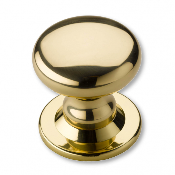 Centre Door Knobs - Non Lacquered Brass - 88 mm (P2132-A)