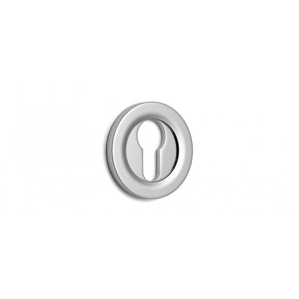 Euro escutcheon - Hidden screws - Chrome 51 mm