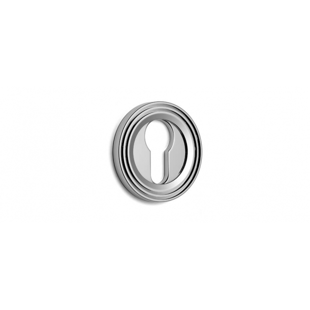 Euro escutcheon - Chrome 51 mm