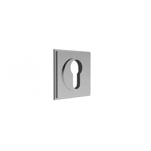 Kwadratowa rozeta na wkładkę PZ - Chrom - 55x55 mm (P8028)