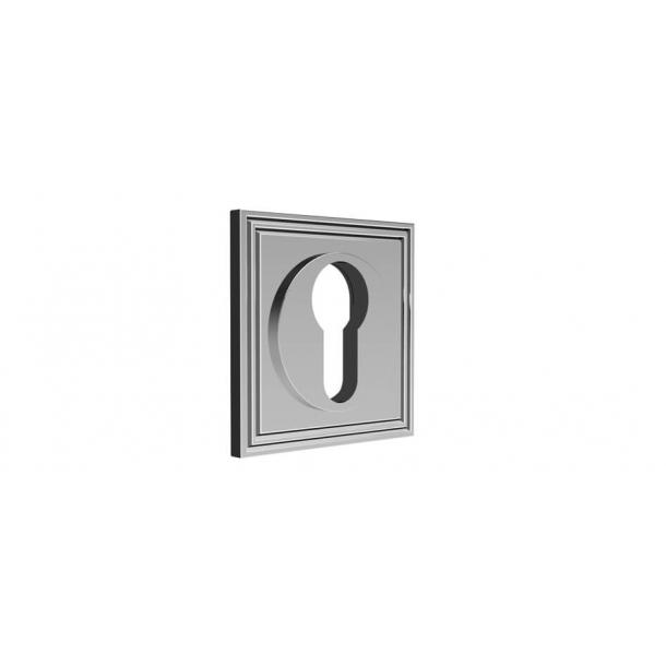 Rozeta kwadratowa pod zamek PZ - Chrom 55x55 mm - Samuel Heath - (P8038)