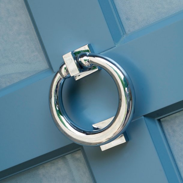Ring door knocker - Satin Chrome - Samuel Heath P7007