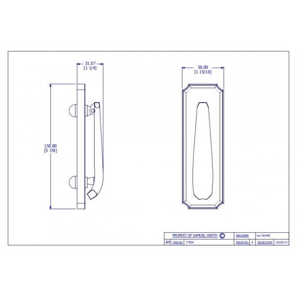 Cobden dørhammer krom - P7506