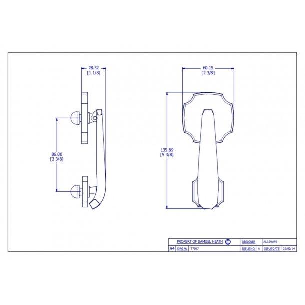 Cobden dørhammer krom - P7507