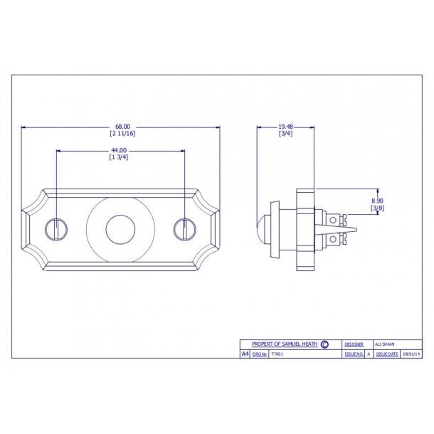 Bell push - Chrome - T7601