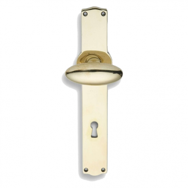Door handle brass - BLENHEIM incl. back plate/keyhole (SJ-VH21041019)