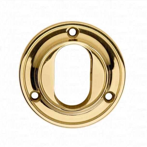 Cylinderring Oval - Messing - Træskruer