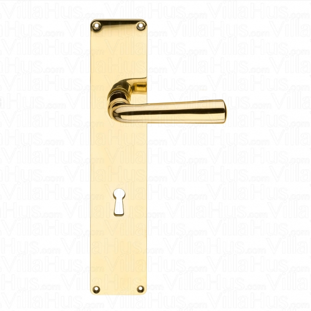 Door handle GENON brass , Back plate with keyhole