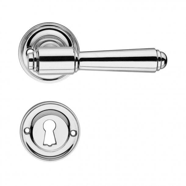 Door handle interior - Nickel - Rosset / Escutcheon - BRIGGS 112 mm - Old doors