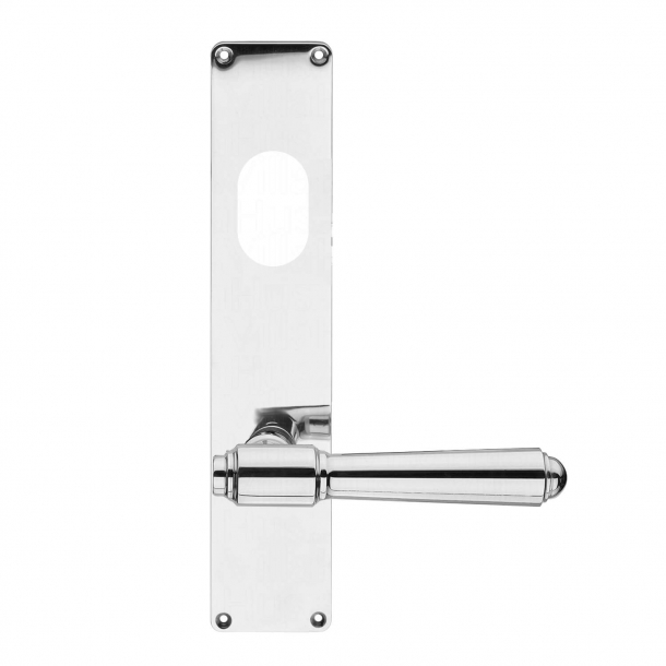Dørgreb udendørs langskilt højglans ASSA cylinderhul - BRIGGS 132 mm