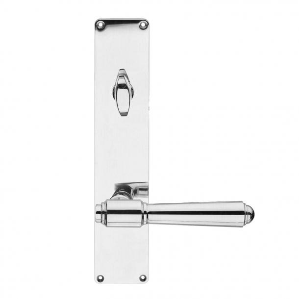 Dørgreb udendørs langskilt højglans ASSA vrider - BRIGGS 132 mm