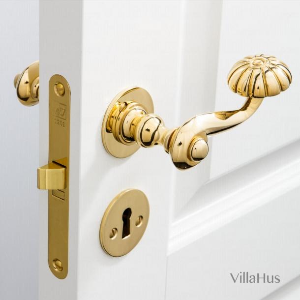 Dörrhandtag inomhusmässing - Smidig rosett och nyckelskylt - BALFOUR 112 mm