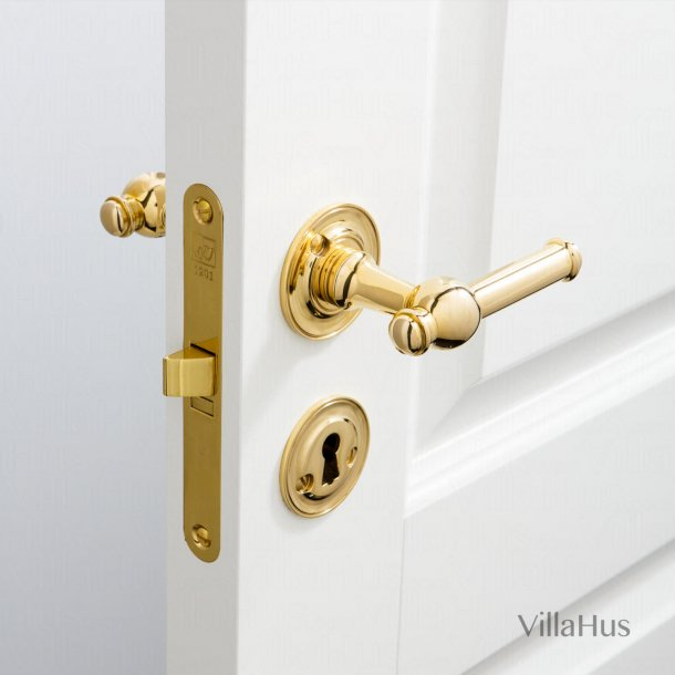 Door handle interior - Brass - Rosset / escutcheon - CREUTZ 94 mm
