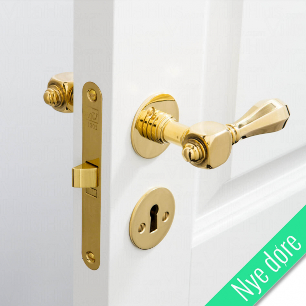 Dörrhandtag inomhus - Mässing - Smidig rosett och nyckelplatta - MEDICI