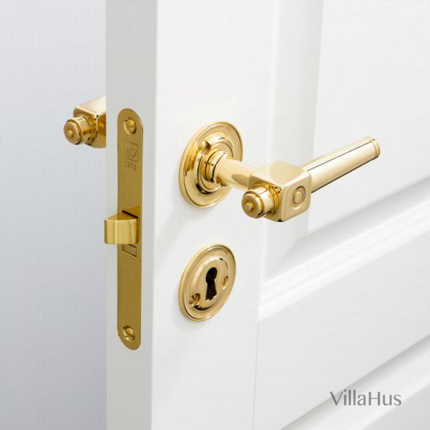 Door handle interior - Theatre handle - Brass - Bolt and sleeve
