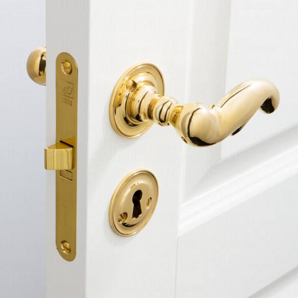 Klamka do drzwi - Rozeta pod klucz - Mosiądz - Weingarden 97 mm