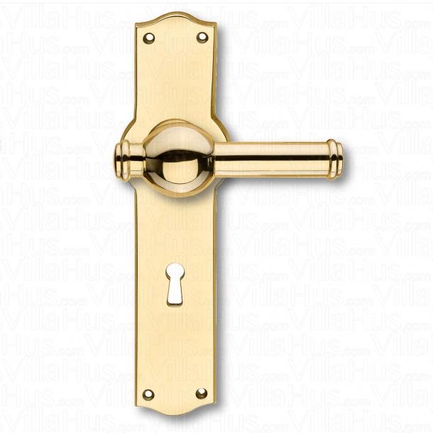 Türgriffe - Interieur - Breit, Rückenplatte - Schlüsselloch - Messing - CREUTZ 94 mm