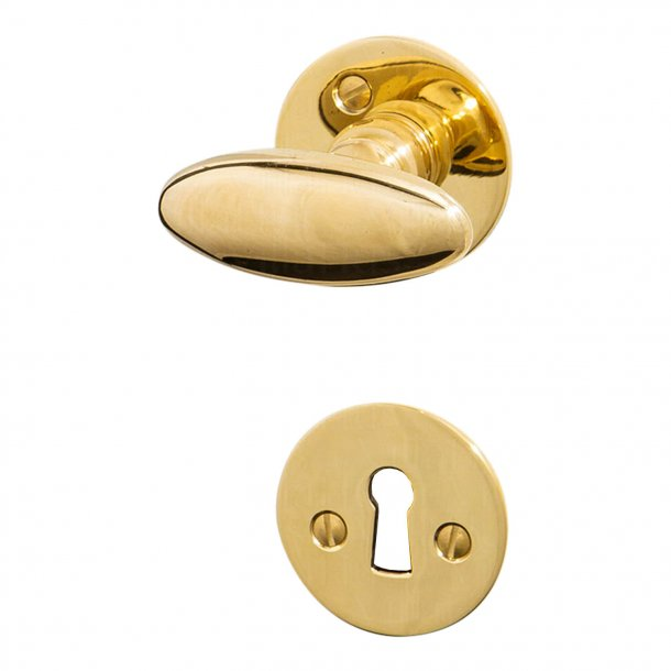 Door handle Brass Interior - BLENHEIM - Smooth rosette and escutcheon (SJ08-035)