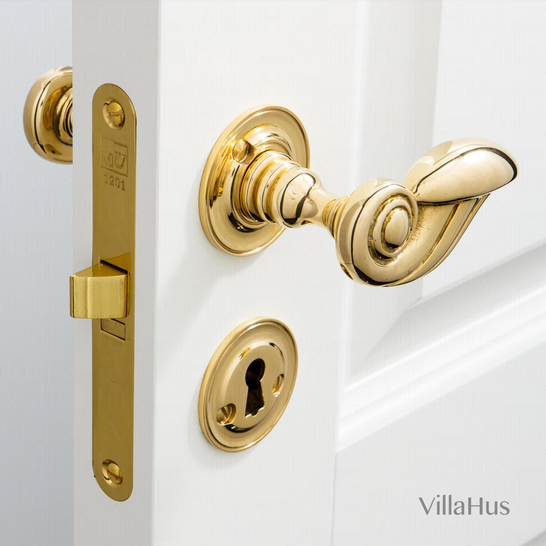 Door Handle Interior Brass Perrot 88 Mm Brass Door Handles