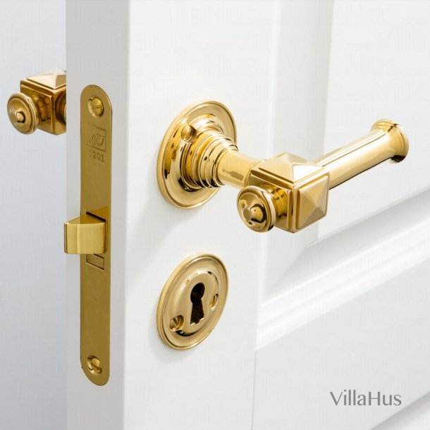 Door handle - Interior - Brass - Model ULLMAN 102 mm - Bolt and sleeve