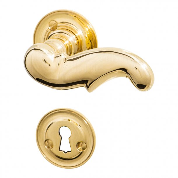 Door handle interior - Rosset / Key Tag - Brass - Weingarden 97 mm