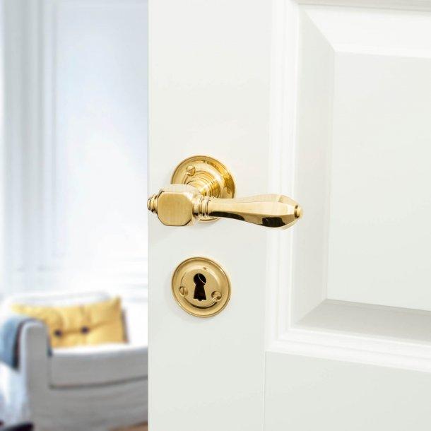 Door handle interior - Brass - rosette and escutcheon - MEDICI