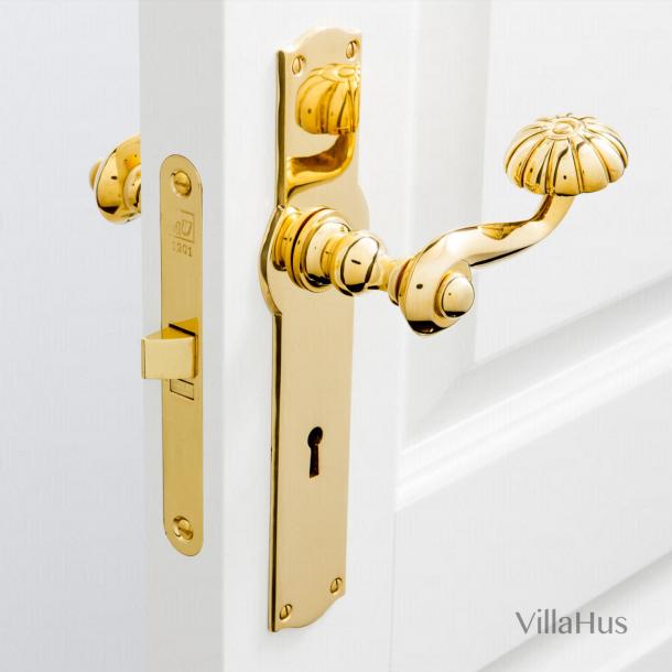 Dörrhandtag på Amalienborg långplatta - Mässing - Model BALFOUR