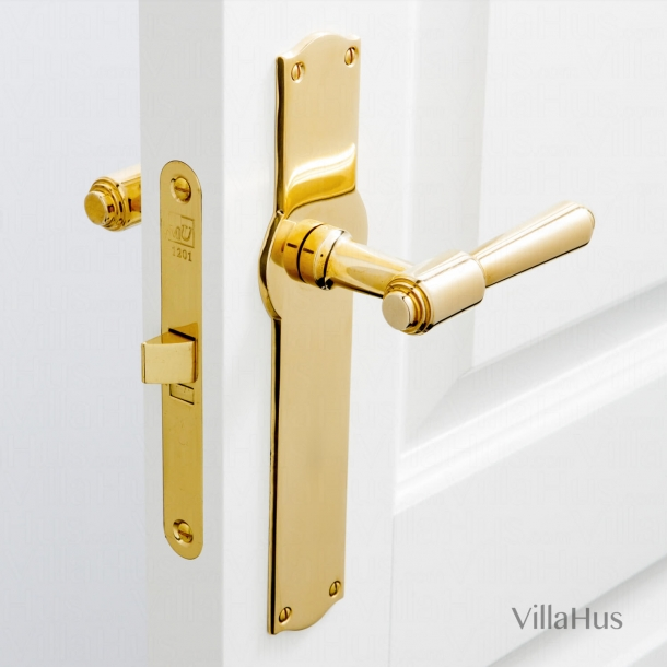 Door handle interior, Back plate - Brass - BRIGGS 112 mm