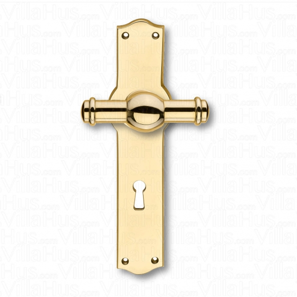 Door handle interior - Back plate narrow - Keyhole - Brass - CREUTZ 74 mm