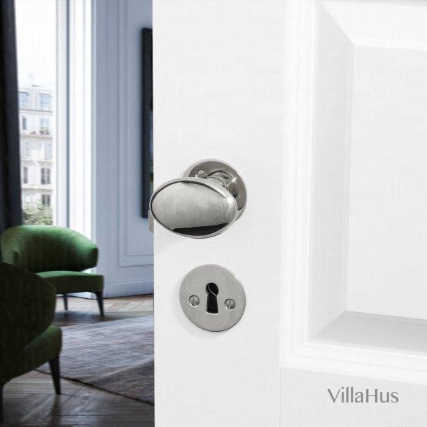 Door knob - Interior - Nickel plated - Smooth rosette - Model BLENHEIM 3