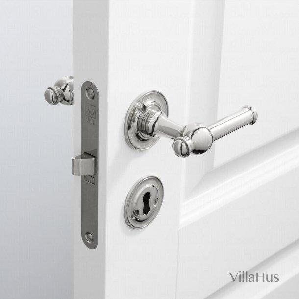 Dørgreb indendørs - Blank nikkel - Roset/nøgleskilt - CREUTZ 94 mm