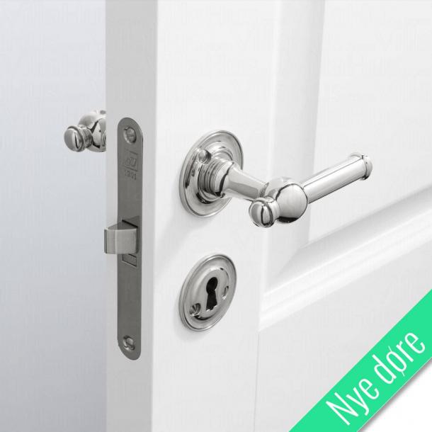 Dørgreb indendørs - Blank nikkel - Roset/nøgleskilt - CREUTZ 94 mm - Nye døre