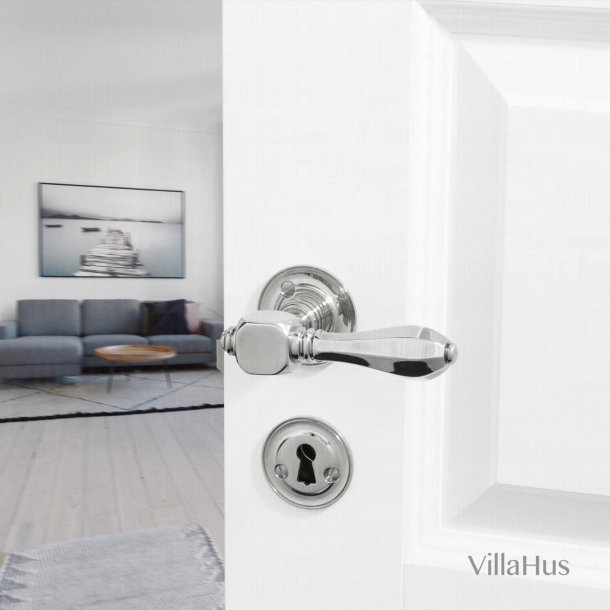 Door handle - Interior - MEDICI - Nickel plated 120 mm