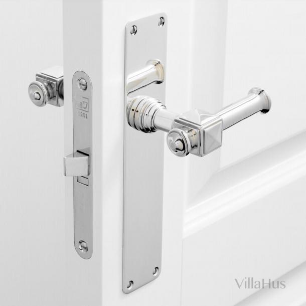 Door handle on Backplate - Interior - ULLMAN 112 mm - Nickel