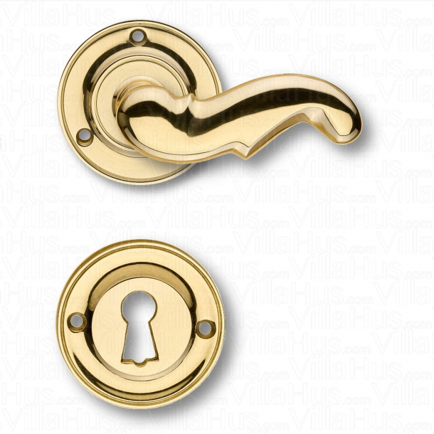 Door handle interior - Rosset / Key Tag - Brass - Weingarden 84 mm