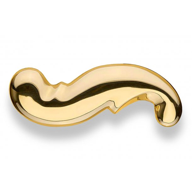 Door handle - Exterior - Brass - Back plate without keyhole - Model WEINGARDEN 127 mm