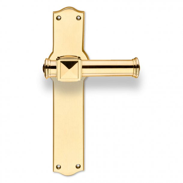 Dørhåndtag udendørs - Messing - Langskilt uden nøglehul - Model ULLMAN 123