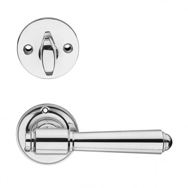 Dørgreb udendørs nikkel - Cylinderring og Vrider - BRIGGS 132 mm