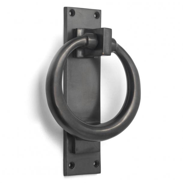Door knocker - Gunmetal - Ring on plate, model BASTIN