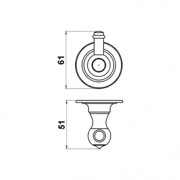 Haken, einfach - Messing - Modell TB26