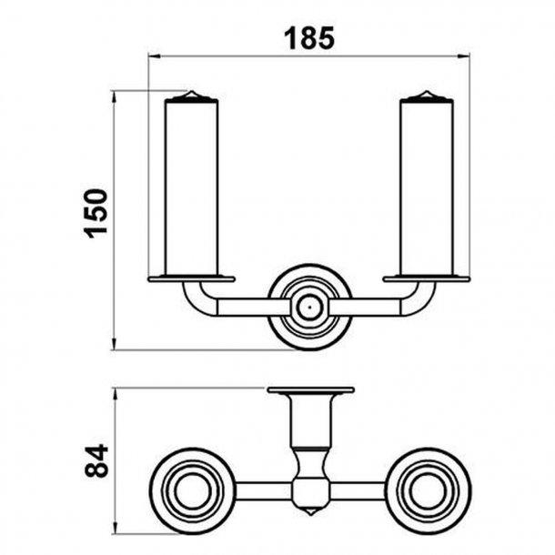 Zapasowy uchwyt na papier - Mosiądz - Podwójny - Model TB23